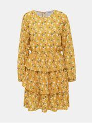 Haily´s hořčicové květované šaty Anni