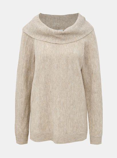 VILA béžový svetr Calo L