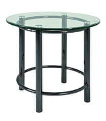 Mørtens Furniture Konferenčný stolík Foster III., 53 cm, číra/chróm