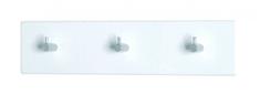 Mørtens Furniture Nástenný vešiak Sonny, 34 cm, biela/chróm