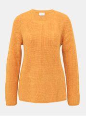 VILA oranžový basic svetr s příměsí vlny Good