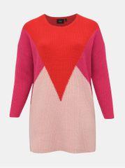 Zizzi červeno-růžový svetr s příměsí vlny Alice