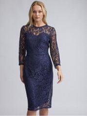 Dorothy Perkins Tall tmavě modré krajkové pouzdrové šaty
