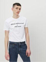ZOOT Original bílé pánské tričko Žádná přítelkyně