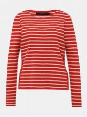 Vero Moda červený pruhovaný svetr Sailor