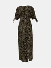 Miss Selfridge Petit černé květované maxišaty