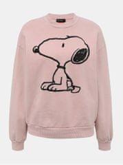 TALLY WEiJL světle růžová mikina s potiskem Snoopy Olive