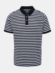 Helly Hansen bílo-modré pánské pruhované polo tričko Fjord