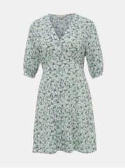 Miss Selfridge světle zelené květované šaty