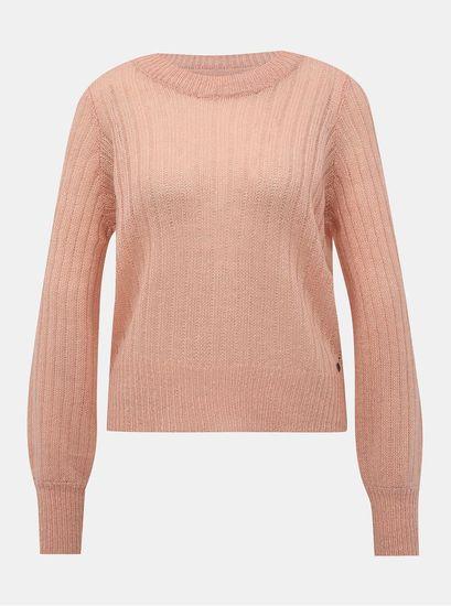 Noisy May růžový svetr Sabby XL