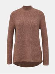 ONLY starorůžový basic svetr se stojáčkem Leva