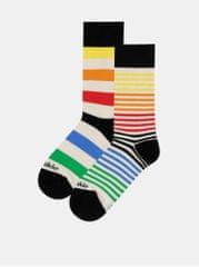 Fusakle krémové pruhované ponožky Extrovert farebny