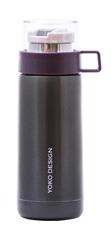 Yoko Design Termo steklenica s skodelico, vijolična