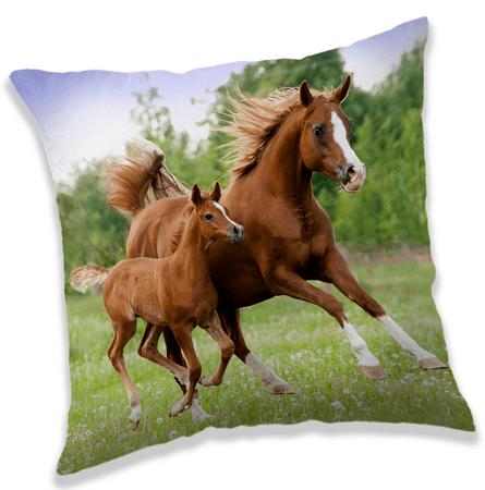 Jerry Fabrics Horse Brown jastuk