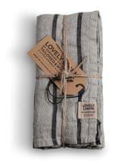 Lovely Linen stolní běžec Misty Stripe black 47x150