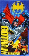 SETINO Marvel Chlapecká plážová bavlněná osuška Batman - modrá 70 x 140 cm