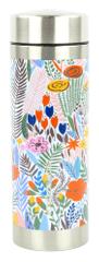 Yoko Design Termo steklenica s cedilom za čaj, 350 ml, cvetovi