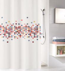 Kleine Wolke Kúpeľňový záves Cora, 180 × 200 cm, viacfarebná