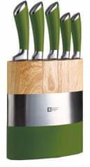 Amefa Sada nožov a blok Fusion 5 ks zelená