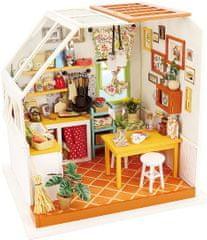 Robotime Stavebnice miniaturní domeček - Kuchyňský kout miniatura LED DIY 1:24