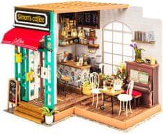 Robotime Stavebnice miniaturní domeček - Kavárna miniatura LED DIY 1:24