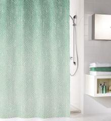 Kleine Wolke Koupelnový závěs Cascada, 180×200 cm, smaragdová