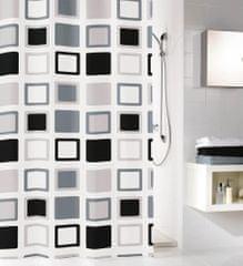 Kleine Wolke Koupelnový závěs Clipper, 180 × 200 cm, antracitová