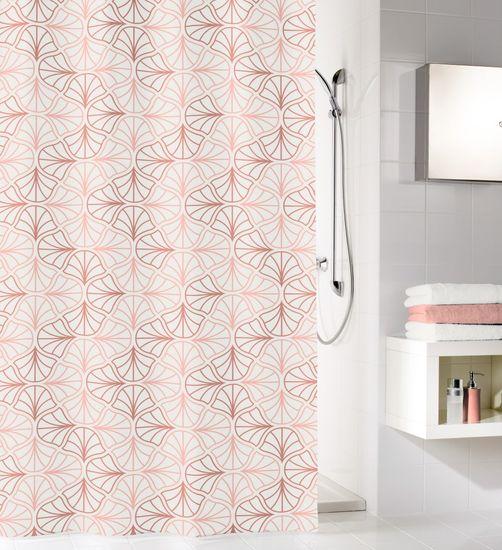 Kleine Wolke Koupelnový závěs Bloom, 180×200 cm, perlová