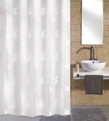 Kleine Wolke Kúpeľňový záves Canton, 180 × 200 cm, biela