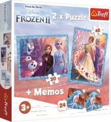 Trefl Puzzle Ľadové kráľovstvo 2, 30+48 dielikov + pexeso