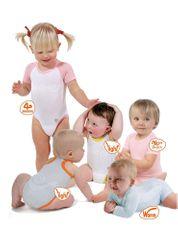 Mebby BODY UP Elastické body rostoucí s děťátkem od 0 do 3 let, Růžové, Extrastrech
