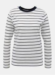 Jacqueline de Yong bílé pruhované basic tričko Best Life