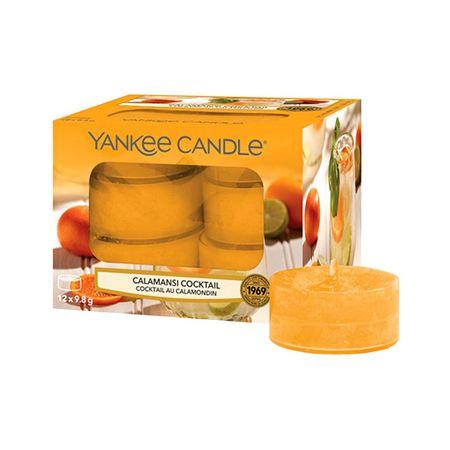 Yankee Candle Yankee gyertya tea gyertyák, Calamansi koktél, 12 db