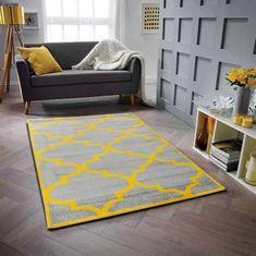 Nazar polypropylenový koberec Gala 160 x 230 cm, šedá/žlutá
