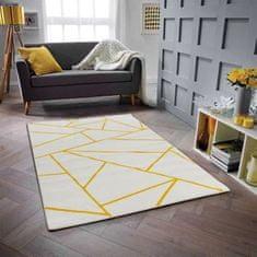 Nazar polypropylenový koberec Gala 120 x 160 cm, bílá/žlutá