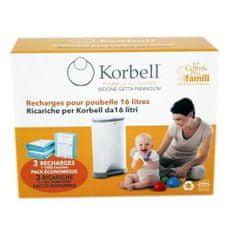 Korbell Sada 3 náhradních náplní Standard