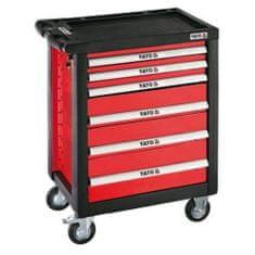 YATO Pojízdná dílenská skříňka, 6 zásuvek, červená