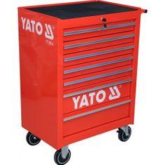 YATO Pojízdná dílenská skříňka, 7 zásuvek, červená