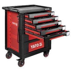 YATO Pojízdná dílenská skříňka s nářadím, 189ks, 7 zásuvek