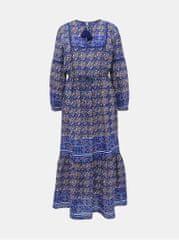 Pepe Jeans tmavě modré vzorované maxišaty Norma