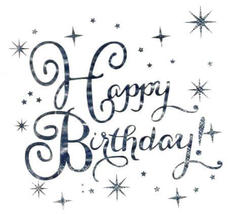"""GoDan Serwetki papierowe party """"Happy Birthday"""" srebro 33x33cm - 10szt"""