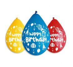 Gemar Latex lufi boldog születésnapot betűkkel keverve - levegő - 5db