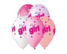Gemar Latex léggömbök Premium It's A Girl színkeverék - héliumhoz - 5db