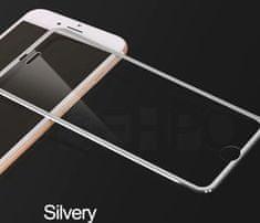 QSEHPO Full-Cover 3D metal tvrzené sklo pro Apple iPhone XR - stříbrné