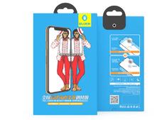 BLUEO 2.5D Zrcadlové ochranné tvrzené sklo Gorilla Type (0,2 mm) iPhone XS Max - černé