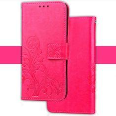 JohnDan Kožené pouzdro FLOWERS pro Asus Zenfone 4 Selfie ZD553KL - růžové