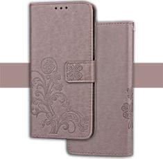JohnDan Kožené pouzdro FLOWERS pro Asus Zenfone 4 Selfie ZD553KL - šedé