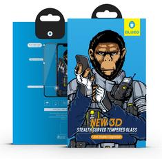 BLUEO 3D Zaoblené ochranné sklo Gorilla Type (0,2 mm) Samsung S10+ / S10 Plus - černé