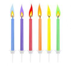 """GoDan Tortové sviečky """"Farebné plamene"""" 6 ks"""