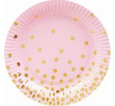 GoDan Papierové taniere EKO ružové 18cm - 6 ks